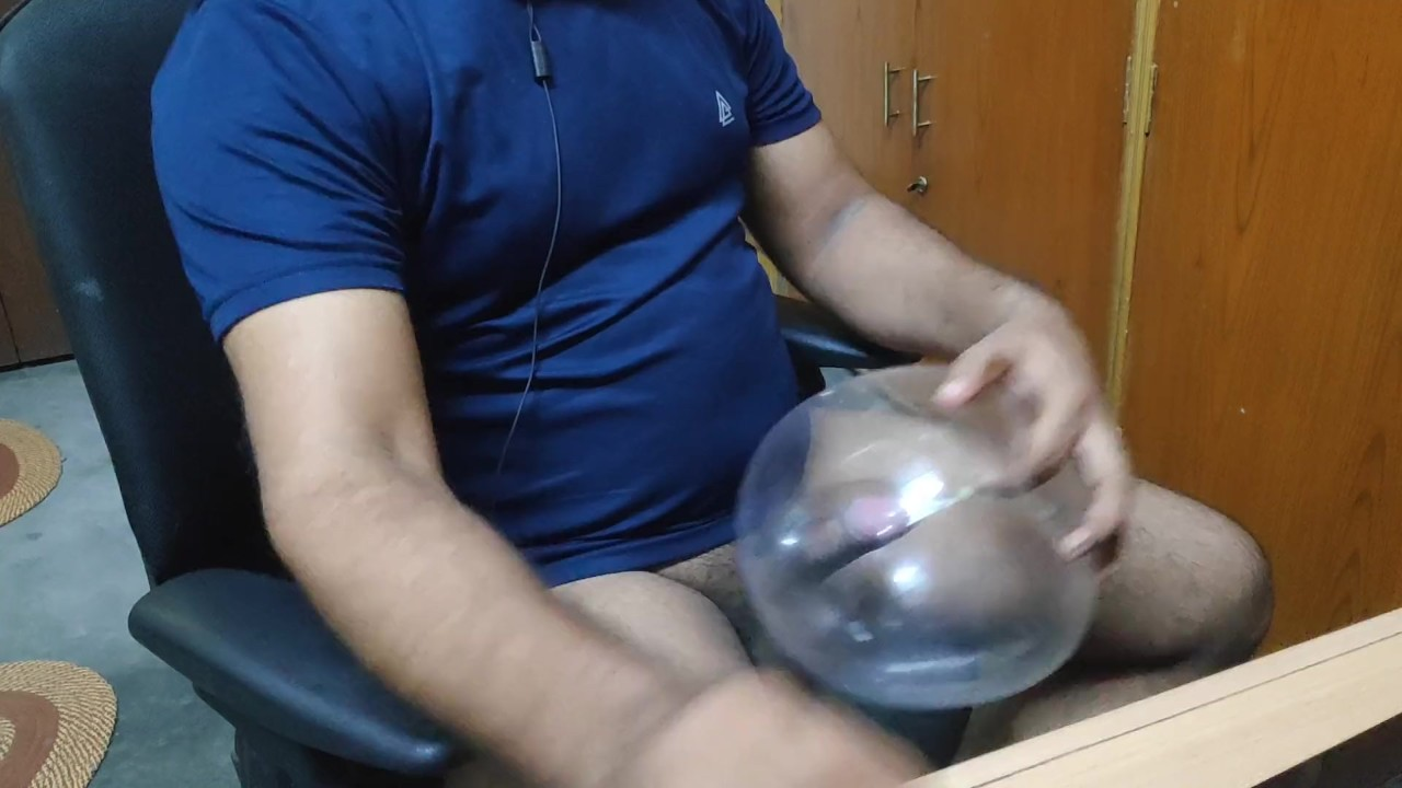 Indian men masturbating with selfmade condom sex toy for free