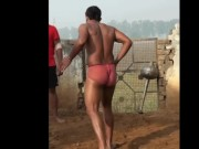 Indian Wrestler's hot ass for free