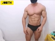 Arab bodybuilder showing ass hole for free