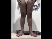 Chubby indian showing his body video