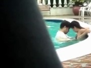 indian couple swimming pool sex very erotic public sex video