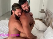 Arab hairy muscle fuck with reach around porn
