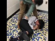 Indian man gets guts rearranged by Asian Man! for free