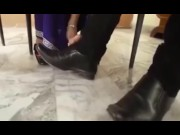 Indian Wife Plays Footsie With Husband's Friend video
