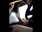 Syrian Arab bear masturbates on the truck porn