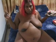 Pregnant BBW Indian Eating 2 download