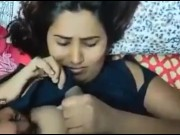 Indian Gf sucking dick of her bf for free