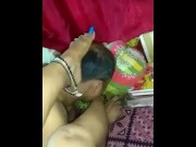 Indian Mistress in saree foot slapping her slave video