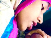 INDIAN MUSLIM Colorful HIJAB blowjob desi teen IMMFUCK for free