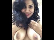 Hot Indian girl showing full nude boobs in balcony  for free